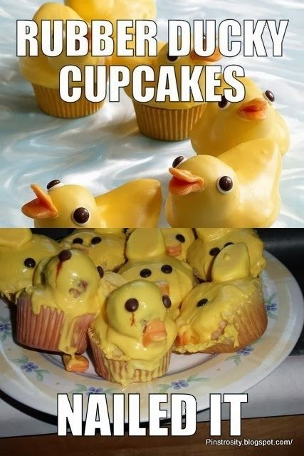 Rubber ducky cupcakes.  Nailed it!