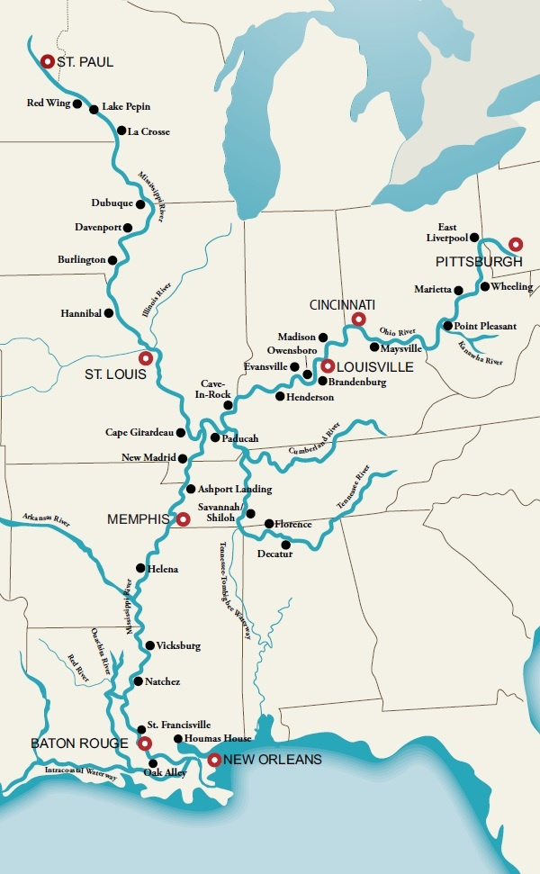 Best Mississippi River Cruise Ideas On Pinterest Southern - Mississippi river on a map of the us