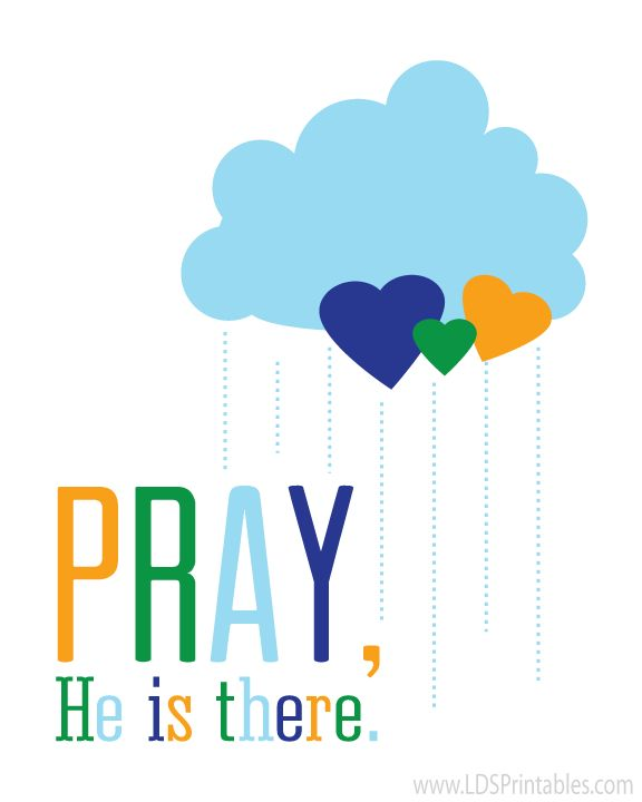 Free printables - Pray, He is there. 2 color versions.