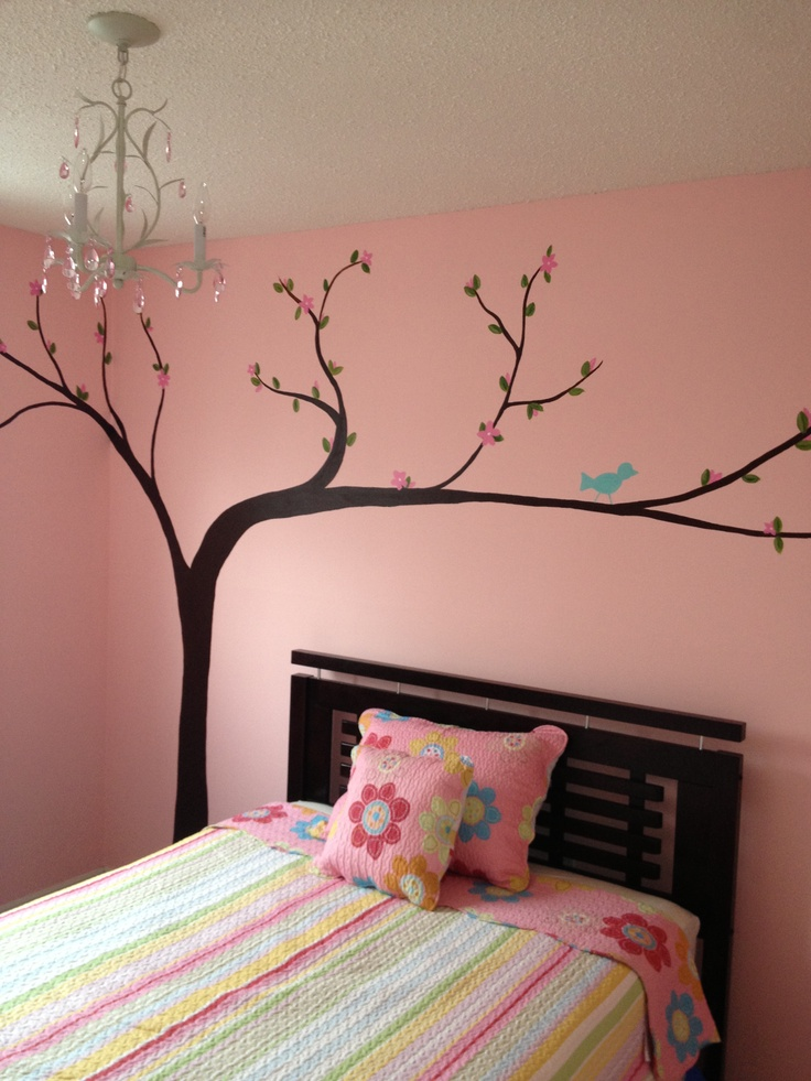 """My daughter's """"big girl"""" room! A lot of work but so worth it!!"""