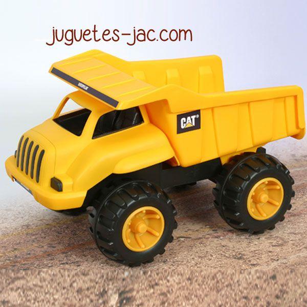 Camión volquete de plástico resistente para los más pequeños.