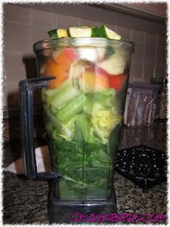 Dr. Oz's Green Drink Makes approx. 3-4 Servings  2 Cups Spinach 2 Cups Cucumber (I just do one large cucumber) 1 Head of Celery 1/2 inch Ginger Root 1 Bunch Parsley 2 Apples Juice of one Lime Juice of one Lemon