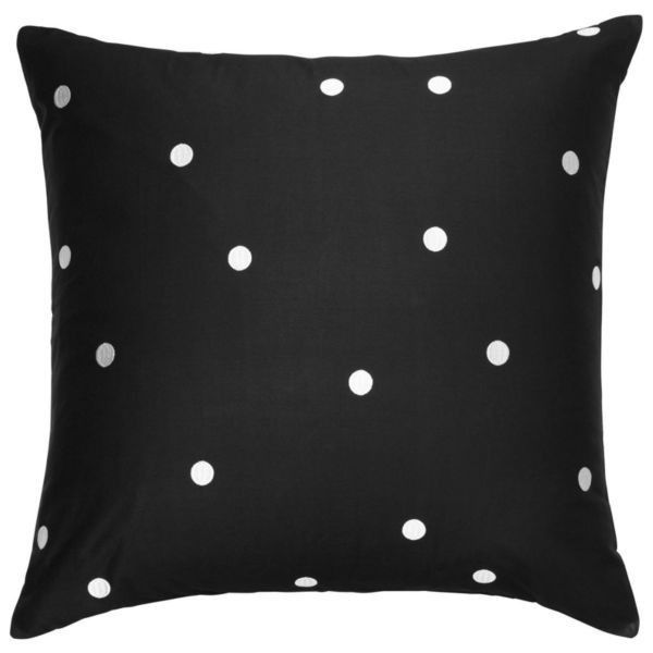 Kate Spade New York Multi Deco Dot Black Euro ($60) ❤ liked on Polyvore featuring home, bed & bath, bedding, comforters, multi, king size comforter, king comforter, black comforter, twin comforter and black king size comforter