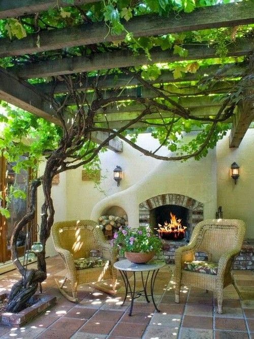 Shaded by the grape arbor. ❣Julianne McPeters❣ no pin limits