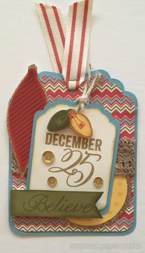 inspired paper crafts: Christmas Tags and the Stamp of the Month - Twinkle #CTMHWhitePines