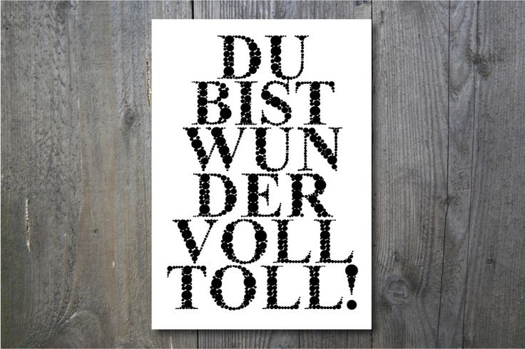"Druck ""Du bist wundervolltoll"" // Print ""You are awesome"" by ohkimiko via DaWanda.com"