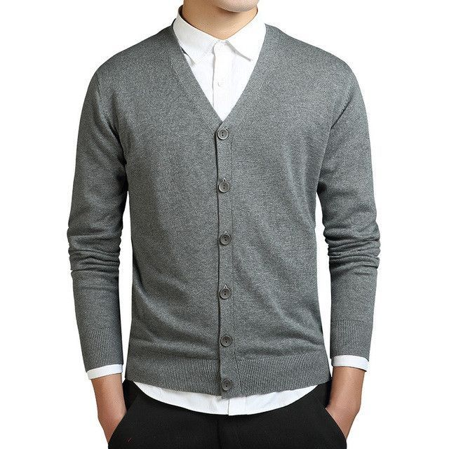 Warm Winter Sweater Men Cashmere Cardigan Sweaters Thick Casual V-neck Cardigan Sweater Knitwear