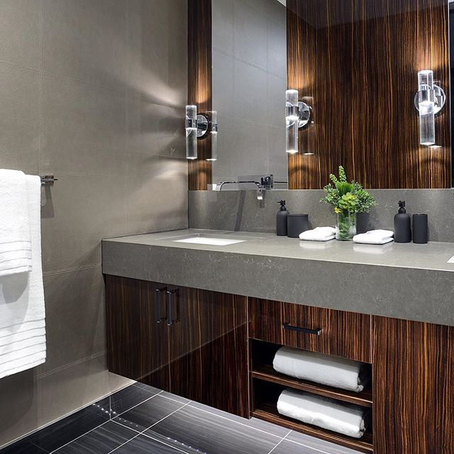 Macassar Is An All Time Personal Favourite Material With Some Lux Leather · Bathroom  VanitiesBathroomsPowder ...
