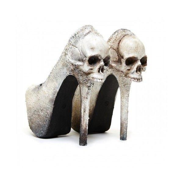 Zombie Peep Show 'Purgatory bone, pump ($190) ❤ liked on Polyvore featuring shoes, pumps, peeptoe pumps, peep toe shoes, peeptoe shoes e peep-toe pumps