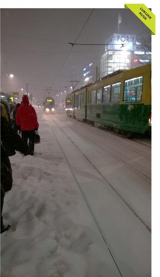 Pictures from today's snowfall in Helsinki