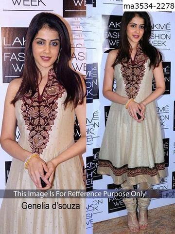 MAYLOZ E-COMMERCE-Women's Beautiful Off White Color Georgette Salwar
