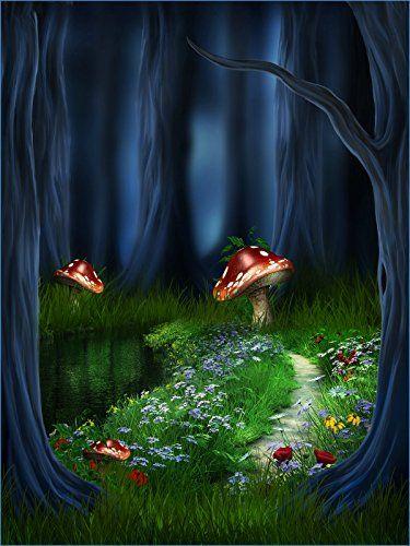 Green 5x7 Fantasy Tree Mushroom Grass Flowers River in Wo... https://www.amazon.co.uk/dp/B01LSA6VCQ/ref=cm_sw_r_pi_dp_x_hc0cybPBAZA9C