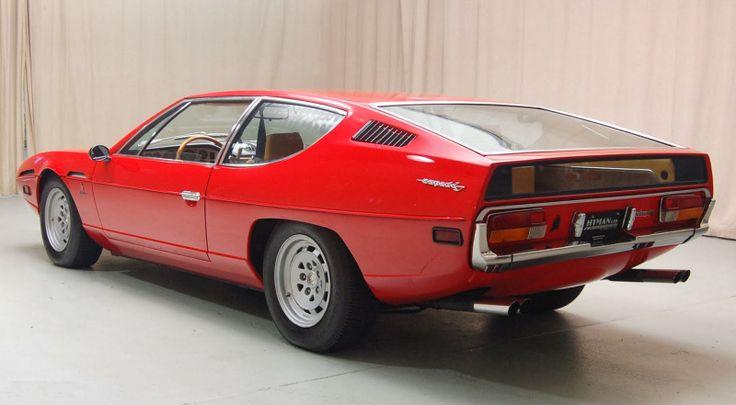 Mobil Keren Lamborghini Espada Red Side Back View