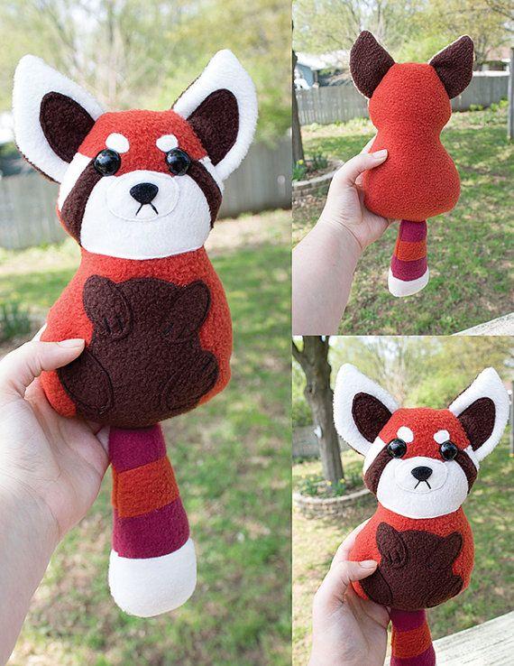 Grumpy Red Panda Stuffed Animal Sewing Pattern Plush Toy