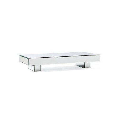 West Elm Mirror Block Coffee Table Mirrored Glass Dat