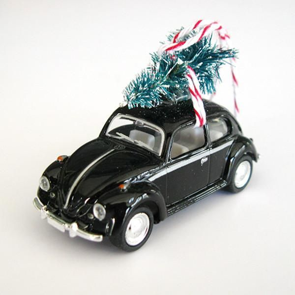 VW Bug Beetle Christmas Ornament with Tree on Top #classicvolkswagenbeetle - VW Bug Beetle Christmas Ornament With Tree On Top