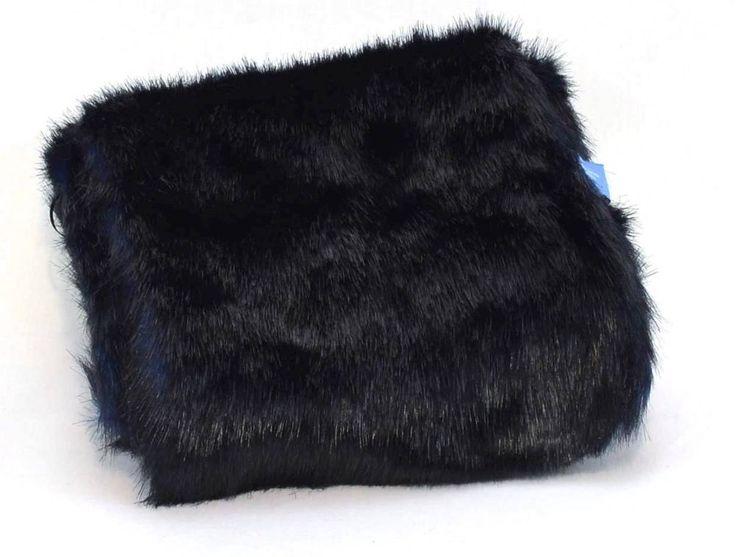 Inverno Semplice Vera Wang Donna Nero Blu Sciarpa Confortevole Lungo Scaldacollo