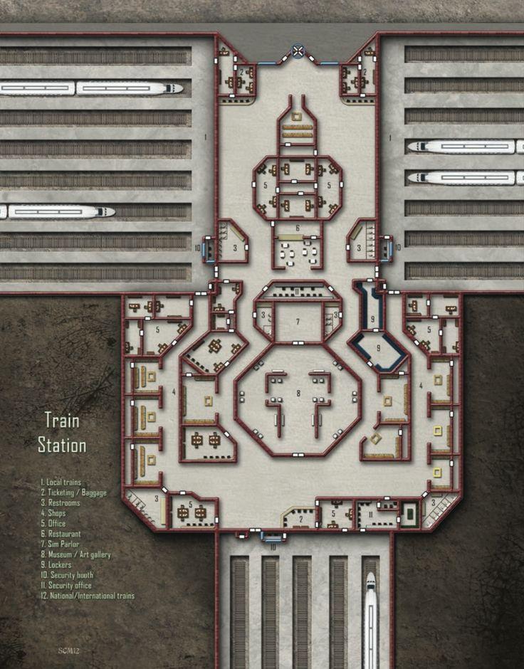 Train Station; shadowrun, floorplan