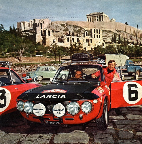 1971 Monte Carlo rally .. Lancia Fulvia HF , crewed by Simo Lampinen / John Davenport , finished 6th o/a .