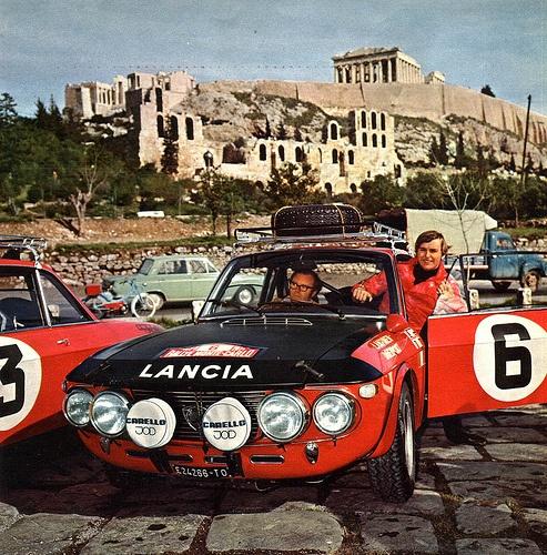 1971 Monte Carlo rally: Lancia Fulvia HF, crewed by Simo Lampinen/John Davenport, finished 6th o/a