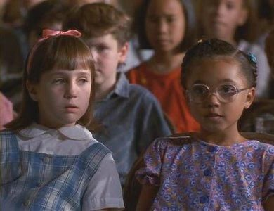 Then: Mara Wilson and Kiami Davael (Matilda and Lavender) from the movie, #Matilda.