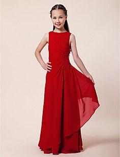 MÓNICA - Vestido de Damita de honor de Gasa – USD $ 75.99