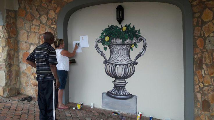 Pva wall painting, GMM, 2017