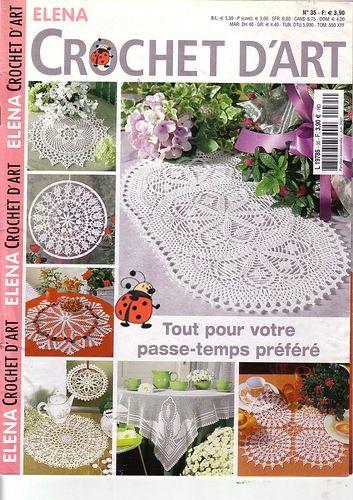 Magazine: Elena Crochet D'Art № 35 - red punto - trabaja mano - Publisher - LÍNEA DE VIDA