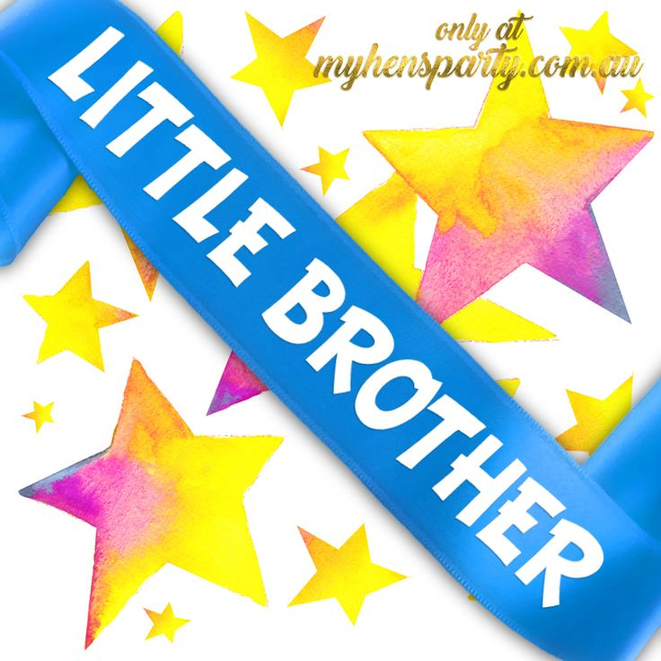Little Brother Sash