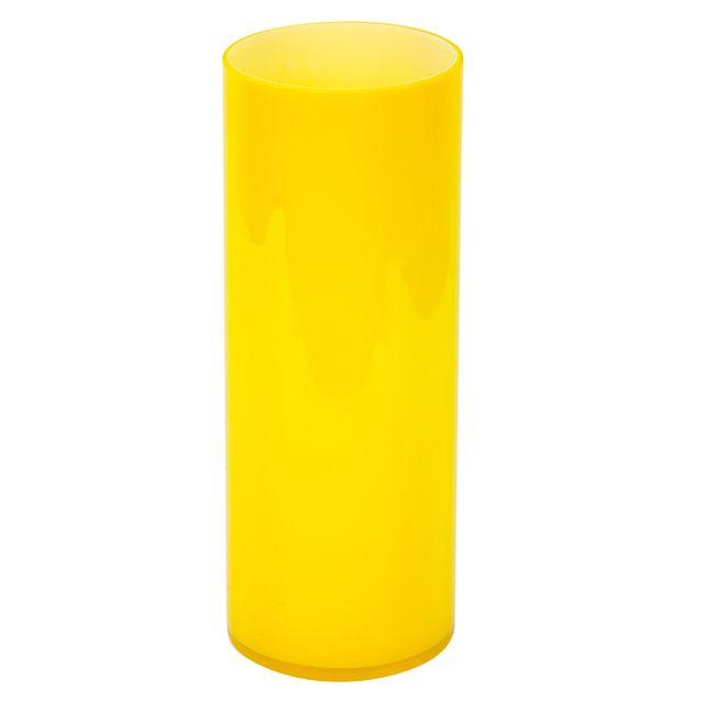 Ваза стеклянная Цилиндр h25,5см желтая F02170018