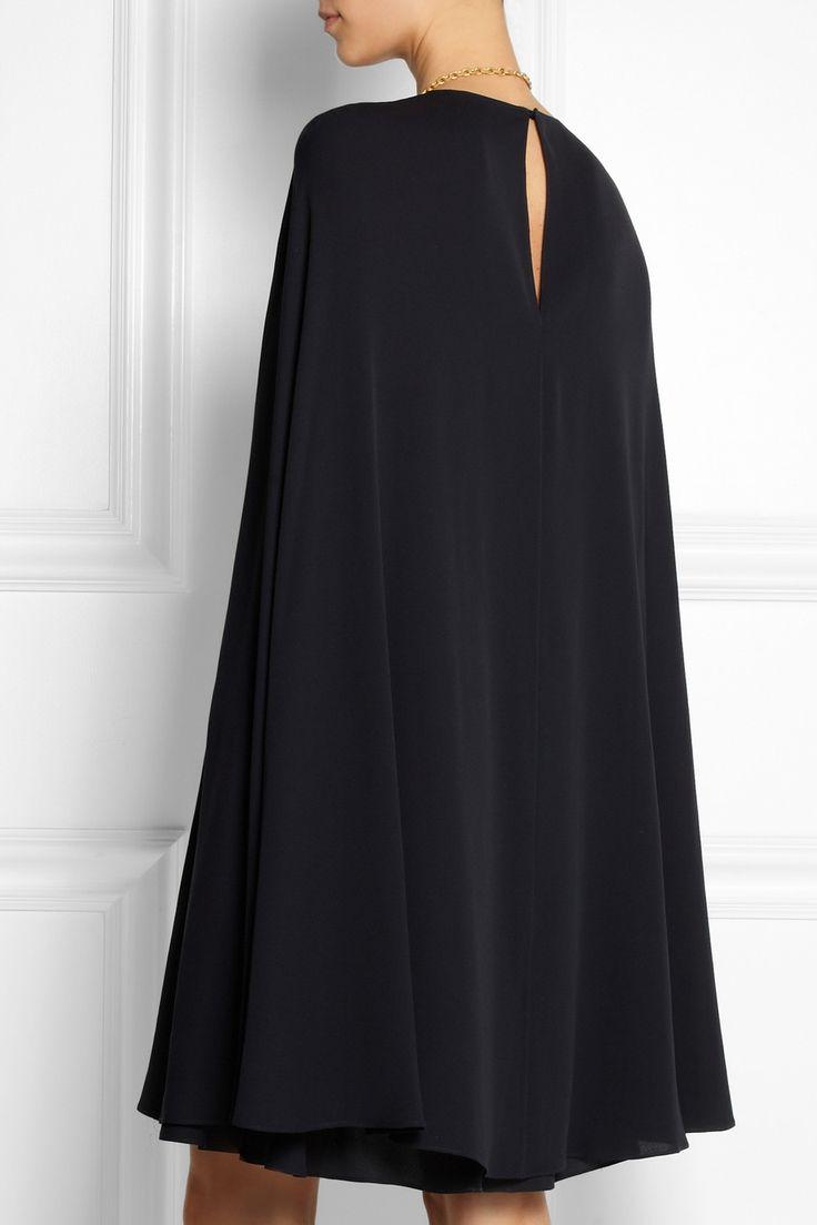 Valentino|Cape-style silk-crepe mini dress|NET-A-PORTER.COM