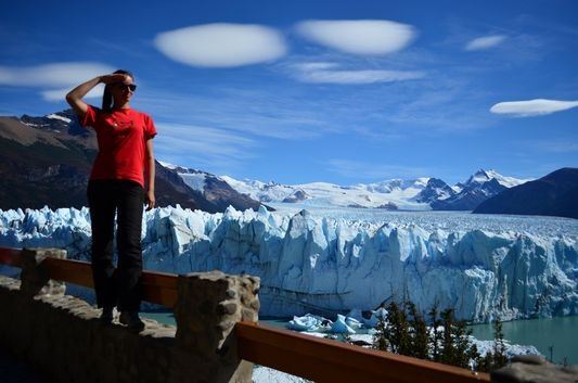 enjoying the amazing Perito Moreno glacier in Argentina
