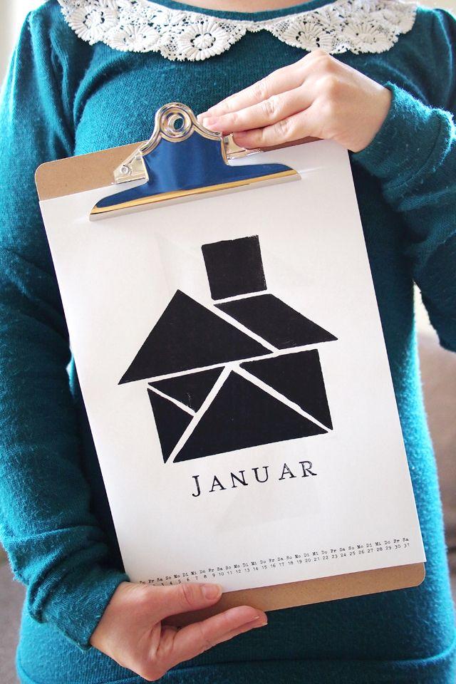 Fee ist mein Name: Mein Geschenk an Euch: Tangram Kalender 2015