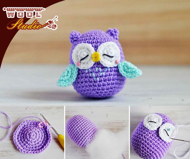 Mr Murasaki is an introvert through and through and finds it exhausting to be around people. Crochet your own Amigurumi Owl by clicking on the link for the pattern: http://ablog.link/32p. #TheWoolStudio #yarnaddicts #amigurumi #crochet