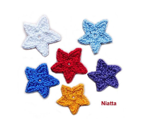 Crochet star brooch crochet applique Pin Jewelry handmade brooch Niatta