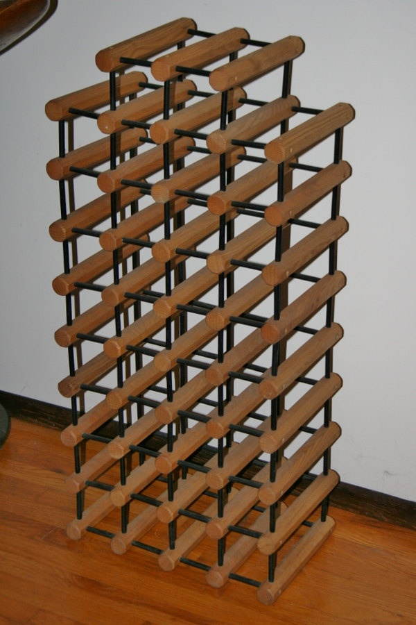 Mid Century Modern 38 Wine Bottle Rack Eames Era Design Kitchen Space Saver. $140.00, via Etsy.