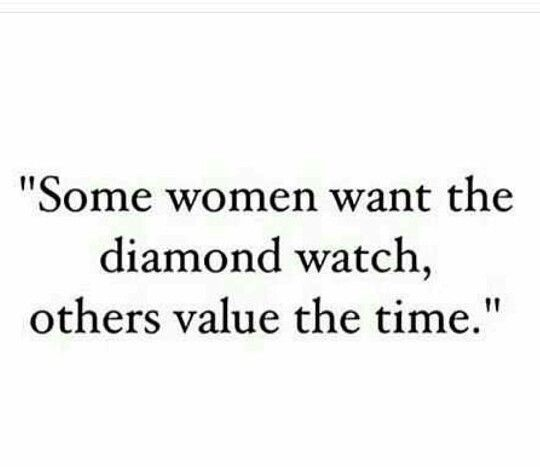 Time is everything. Not materialistic things!