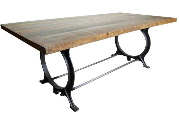 Dining Table With Iron Frame From Gardner White Furniture