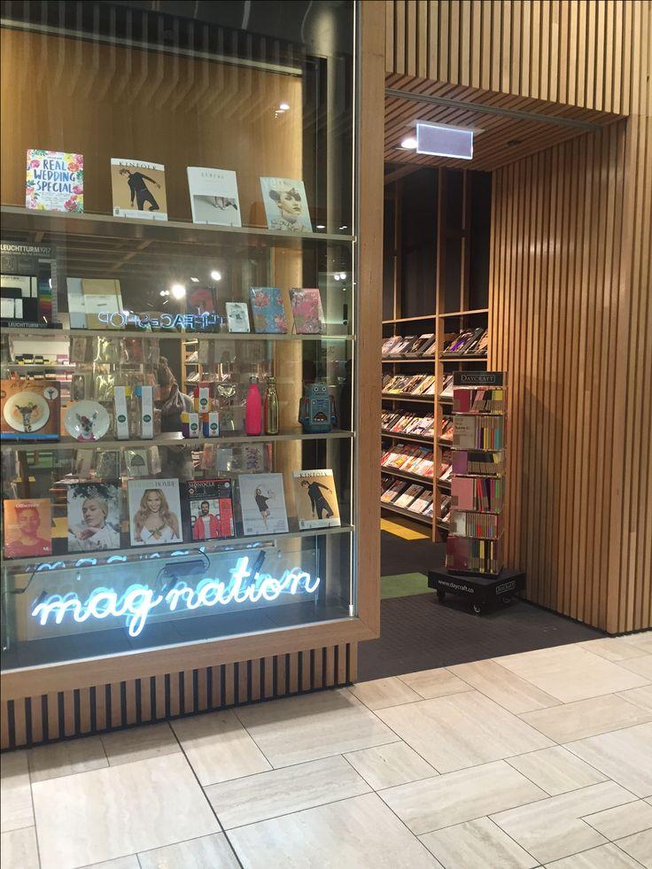 Daycraft notebooks on display, just inside the door at Magnation Emporium in Melbourne.
