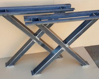 X Table Legs Model 005 Heavy duty Sturdy X Metal by DVAMetal