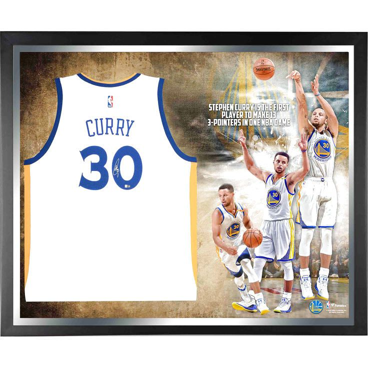 Stephen Curry Golden State Warriors Fanatics Authentic Framed Autographed White Swingman Jersey NBA Record 13 3-Pointers Collage - $1119.99