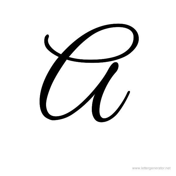 the letter a in cursive