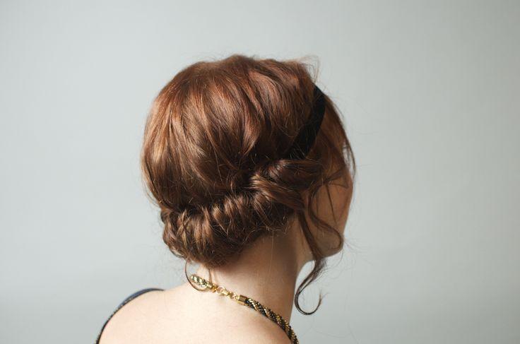 Karen, Prohibition Party.  #hair #updo #prohibition #greatgatsby