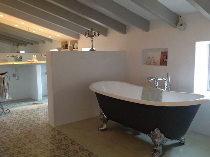 Die besten 25+ Gusseisen badewanne Ideen auf Pinterest | zu Fuß in ... | {Freistehende badewanne eckig 67}