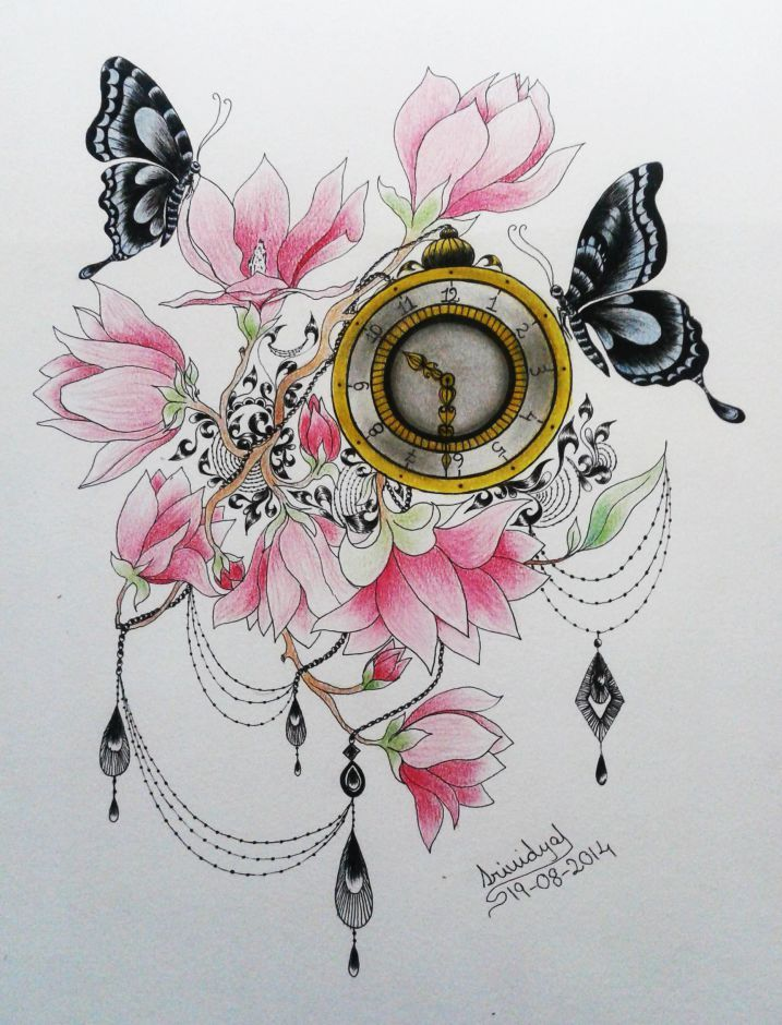Beautiful #time #watercolor #inkart by #srividyaSuddapali