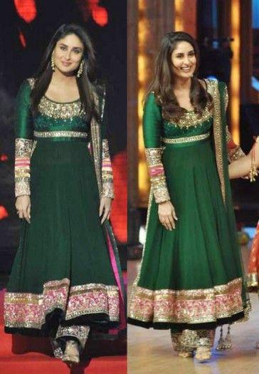Kareena kapoor Green Anarkali Suit