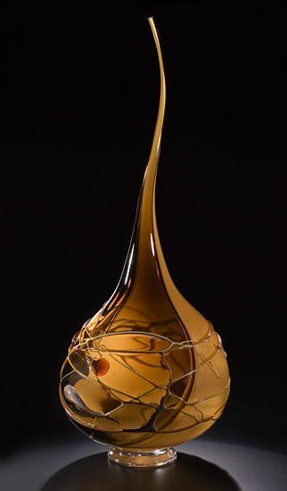 Aurora (Cappuccino with Tapestry Swirl): Victor Chiarizia: Art Glass Sculpture - Artful Home.Love this