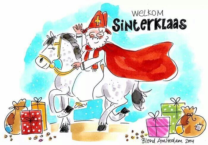 Welkom Sinterklaas, bron : blond amsterdam