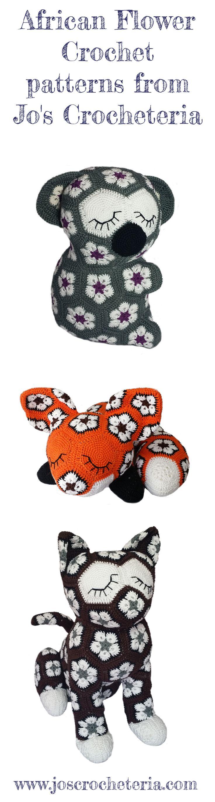 African Flower Crochet patterns from Jo's Crocheteria www.joscrocheteria.com…