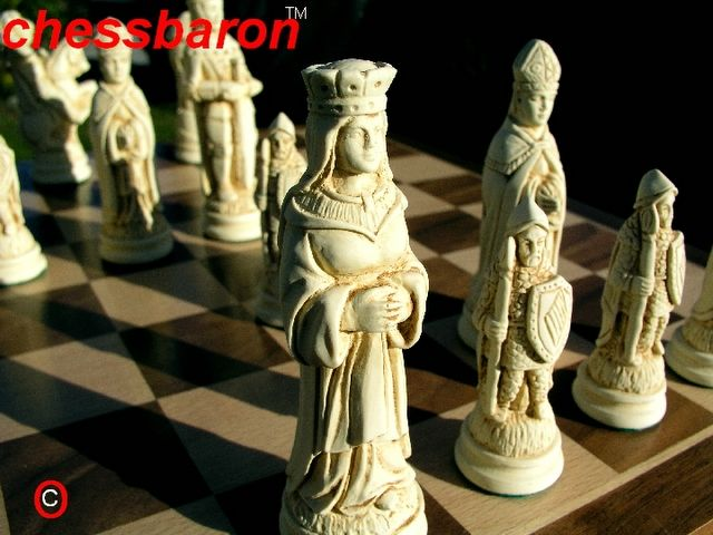 Detailed Chess Set Part - 23: The Second Of Our Camelot Chess Sets, This Finely Detailed Set With  Exquisitely Crafted Characters Is Offered By Us As A Wonderful Theme C.